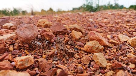 Crisis canyon dry red rock land climate chage Stock Photo - 135386559