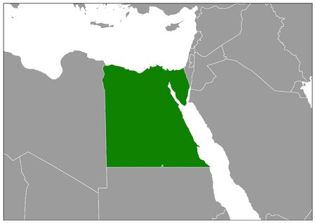 Egypt map on gray base green view