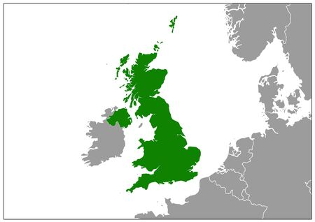 England map on gray base green view  イラスト・ベクター素材
