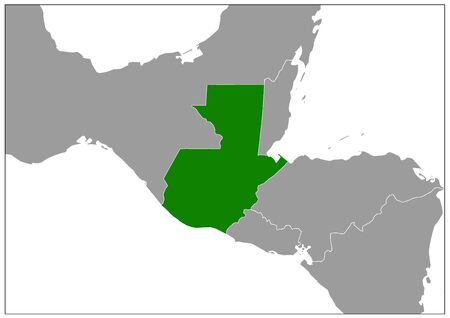 Guatemala map on gray base green view