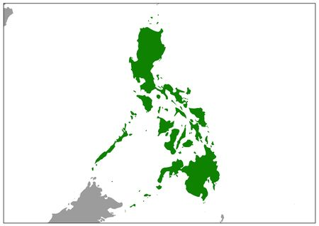 Philippines map on gray base green view
