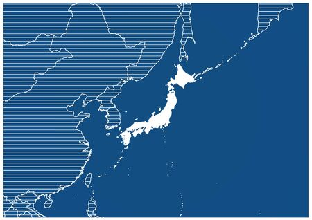 Asia zone Japan Blueprint map classic