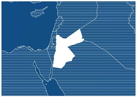 Asia zone Jordan Blue print map classic