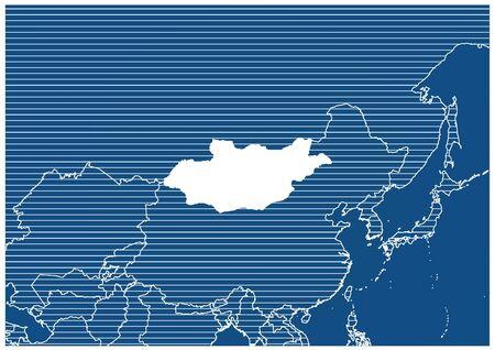 Asia zone Mongolia Blueprint map classic