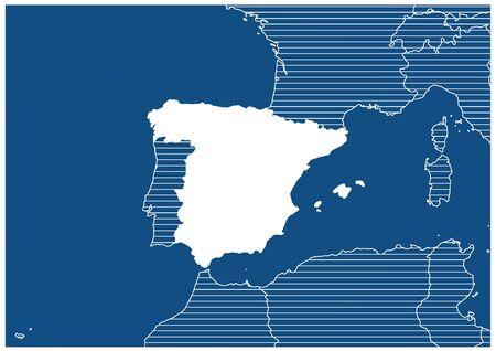 Europe zone Spain Blueprint map classic