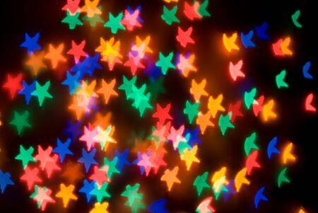 pentagonal: Pentagonal star lights (red, green, blue, orange) Stock Photo