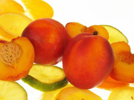 fruitage: fruits on white background Stock Photo