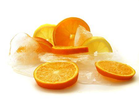 fruits on white background Stock Photo