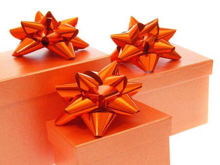 czerwony prezenty