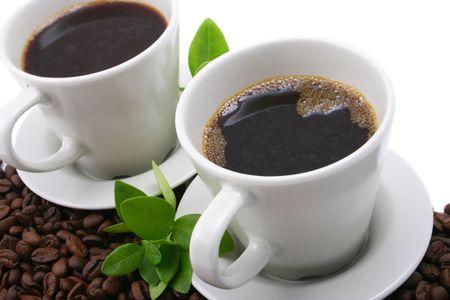 dwa kubki kawy Zdjęcie Seryjne