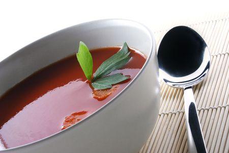 Hot Tomato Soup Stock Photo