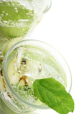Green Apple in Soda Water