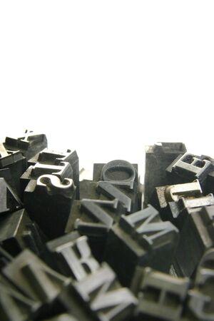 gutenberg: Typography workshop .Old Metallic Letters for Printing