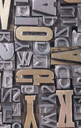 letter blocks: letter blocks for lead typesetting Stock Photo