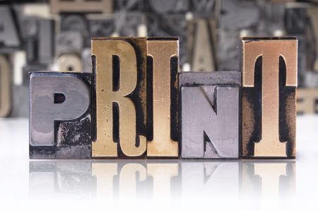 printing press: letter blocks for lead typesetting Stock Photo