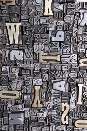letterpress letters: letter blocks for lead typesetting Stock Photo