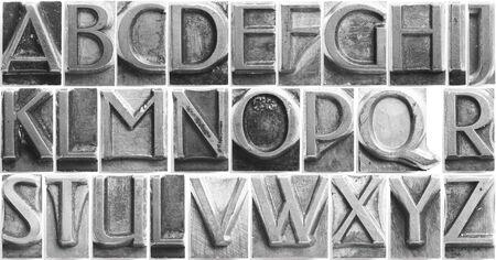 old movable type full alphabet set