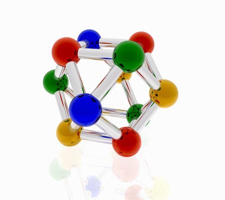 нано: разноцветные наночастицы на белом фоне для логотипа и брошюр