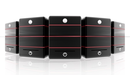Red Servers for hosting site or header banner photo
