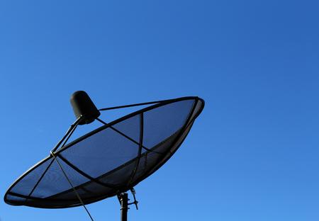 Satellite with beautiful sky