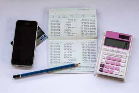 Picture of deposit  withdrawal account, financial account Stock Photo