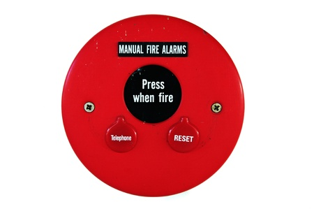Fire alarm emergency signs and symbols.  Stock Photo