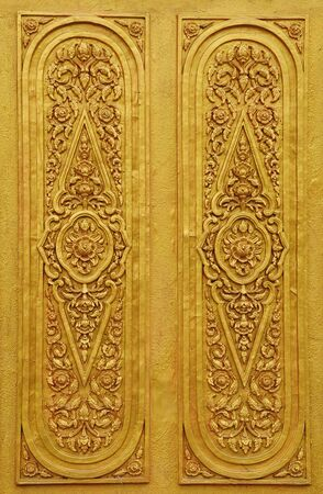 Texture art thai style on the wall,thailand