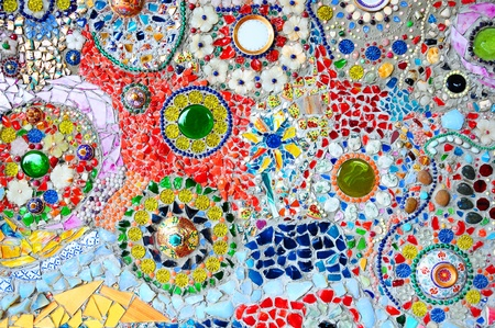 mosaic wall: Colorful glass mosaic art and abstract wall background