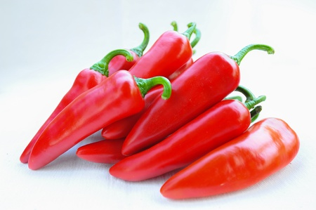 Colorful chilli pepper isolate on white background  Raw material for food or cooking   Stock Photo