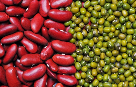 Green bean and red bean background  Agriculture product, cereal, food  photo