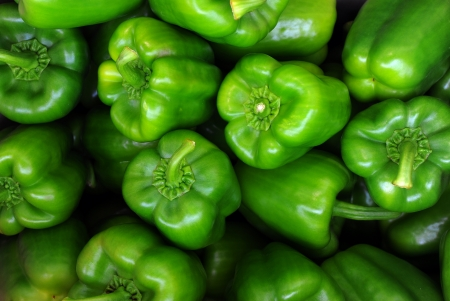 Green sweet pepper, cooking raw material