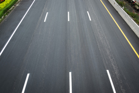 road surface: The surface of the road. Stock Photo