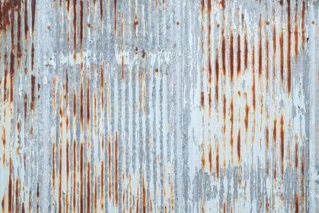 Oude metalen dak textuur. Patroon van oude metalen plaat. Metalen plaat textuur. Roestige metalen plaat textuur. Stockfoto