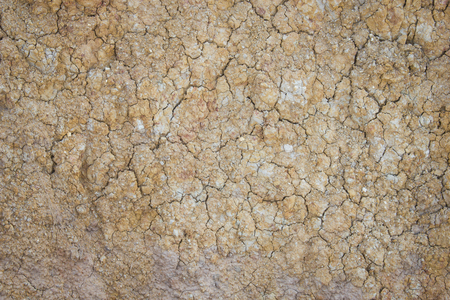Separate soil or parched ground or cracked ground or desiccated ground. texture background. Stock Photo