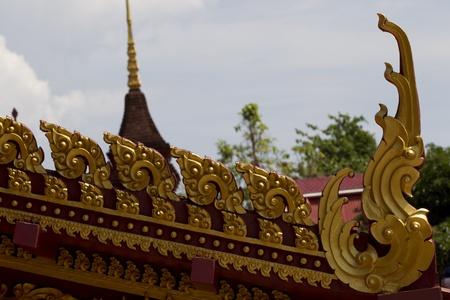 thai motifs: A church decorated with Thai motifs popular in ancient Thailand.