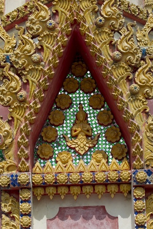 Sala Thai temples gables adorned with beautiful patterns. photo