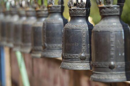 Bell made of brass metal. photo