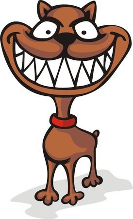 Malicious dog  Illustration