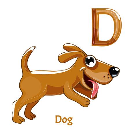 Un vecteur lettre p chien Banque d'images - 85128415