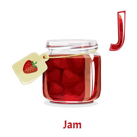 A Vector alphabet letter J. Jam.