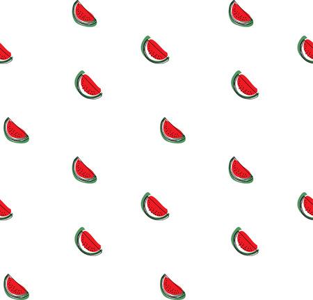 Watermelon pattern. Seamless vector background. Illustration