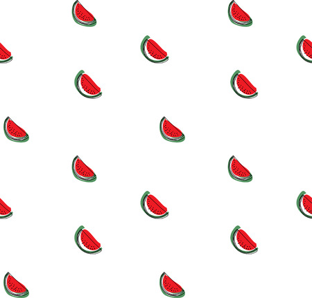 Watermelon pattern. Seamless vector background. Illustration