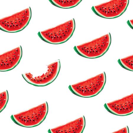 Watermelon seamless pattern background. Illustration