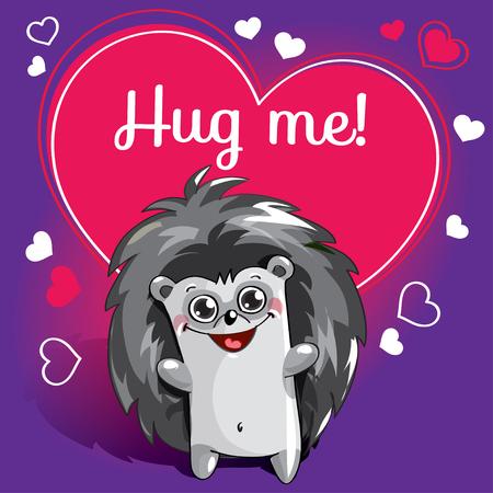Cartoon hedgehog ready for a hugging Stock Photo