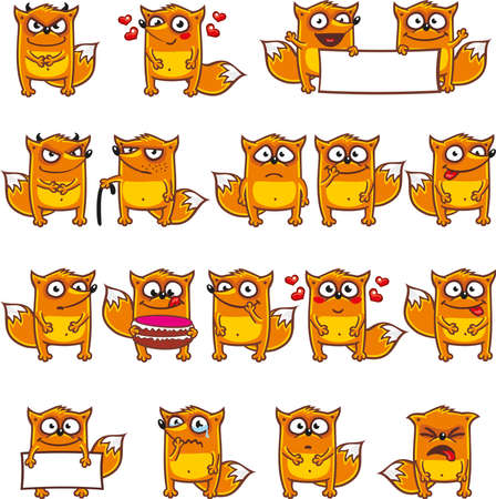 16 smiley foxes individually grouped for easy copy-n-paste. (3)