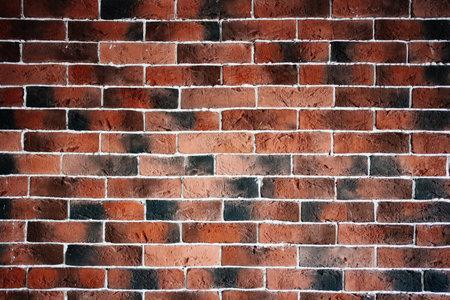 Burnt red brick texture