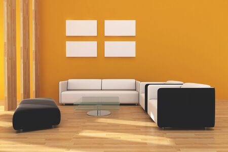 Interior living room design for modern style. Stock Photo - 10835446