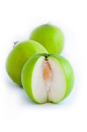 Monkey Apple Cut On White Background. Stock Photo