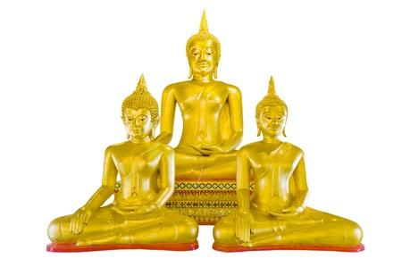 disciples: 3 Buddha Image Disciples sculpture. Stock Photo