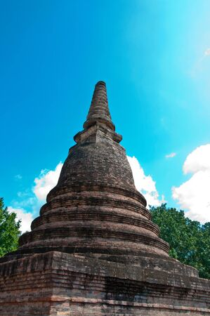 Pagoda of Sukhothai City, Thailand.